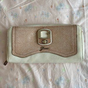 Free with $35 Purchase! Guess White & Tan Wallet